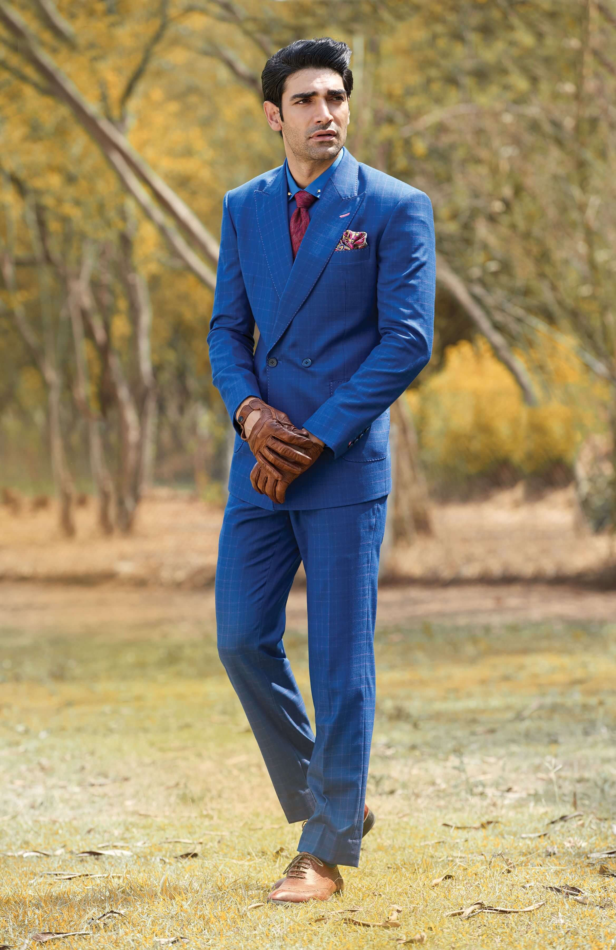 Timeless Royal Blue single button, double breasted Jacket
